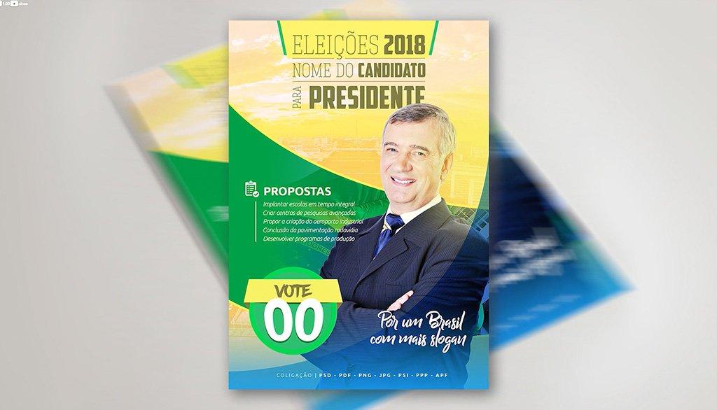 Curso de Photoshop - Flyer Eleições Candidato Político